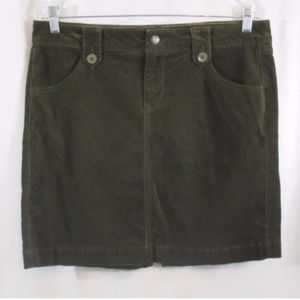Old Navy Forest Green Corduroy Skirt 10